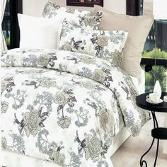 Blancho Bedding - [Ivory Rose] 100% Cotton 5PC Bed In A Bag (Twin Size) by Blancho Bedding. $181.44. Twin size contains a pillow sham, a fitted sheet, a duvet cover, a comforter and a pillow.Twin size comforter measures 67 by 87 inches with 40 oz hypo-allergenic breathable filling.This combo combines a duvet cover set, a down-alternative comforter and two pillows(one for Twin).Shrinkproof, anti-pilling and fading proof processes; 14 inches pocket size of the fitted sheet.Env...