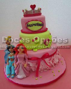 Doces Opções: Bolo com princesas para o aniversário da Francisca...