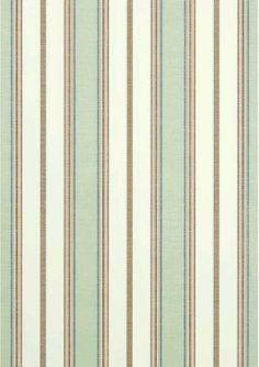 Bohemian Stripe wallpaper and coordinating in Seafoam from the Monterey collection by Thibaut