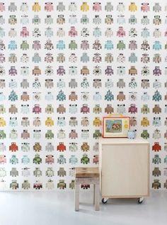 Studio Ditte Robot Behang   De Oude Speelkamer Kids Wallpaper, Pattern  Wallpaper, Ferm Living
