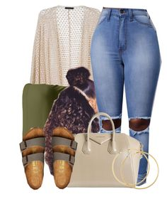 """""""Untitled #599"""" by b-elkstone ❤ liked on Polyvore featuring Birkenstock, Givenchy and H&M"""