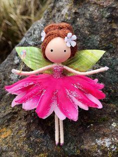 Excited to share the latest addition to my shop: Fairy Doll Handmade Fairy Flower Fairy Bendy Doll Pink Fairy Nursery Decor Rag Doll Nature Inspired Fairy Crafts, Doll Crafts, Diy Doll, Diy Arts And Crafts, Crafts For Kids, Fairy Nursery, Nursery Decor, Mermaid Ornament, Felt Fairy