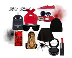 """Red Back"" by fear-faye on Polyvore featuring Motel, Neil Barrett, Vans, Natasha Accessories, NLY Accessories, Incipio, NARS Cosmetics and Manic Panic"