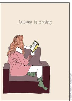 Merci facteur : Autumn is coming Illustration, Books, October, Books To Read, Thanks, Plants, Autumn, Color, Libros