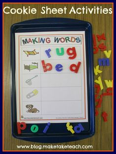 Classroom Freebies Too: Making Words Templates