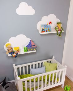 Room baby clouds: 15 decoration ideas for the newcomer. Toddler Rooms, Baby Boy Rooms, Baby Bedroom, Nursery Room, Girl Nursery, Girl Room, Girls Bedroom, Room Baby, Clouds Nursery