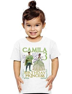 Tiana Princess Birthday Shirt, Princess and the Frog Birthday Party, Add Any Name and Age, Family Matching Shirts, Gi... Frog Birthday Party, Frozen Birthday, Princess Birthday, It's Your Birthday, Girl Birthday, Birthday Ideas, Birthday Cake, Monster Inc Birthday, Princess Tiana