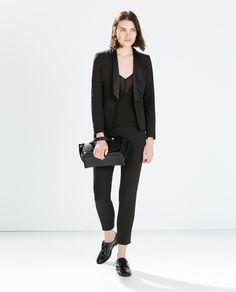 BLAZER WITH COMBINED LAPEL (tuxedo blazer) | Zara
