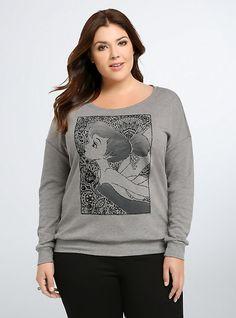 Plus Size Disney Tinkerbell Henna Sweatshirt, HEATHER GREY