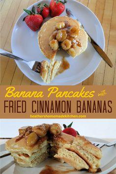 Banana Breakfast Recipes, Breakfast Pancakes, Banana Pancakes, How To Make Breakfast, Breakfast For Dinner, Cinnamon Bananas, Fried Bananas, Baked Banana, Salted Butter