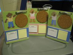 Made these this year... great idea for anyone with a non-office desk, teachers and home bodies.  Sold well.  Easy to make your own calendars in Excel.  Another great way to use left over papers & scraps depending on how much work you want to do.  I kept it simple and only had great design paper to compliment the calendar, post-its, matching pen and cork.