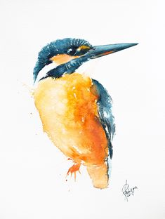 Common redstart (Phoenicurus phoenicurus) Watercolour by Andrzej Rabiega Exotic Birds, Colorful Birds, Bird Barn, Barn Owls, Bird Artwork, Watercolor Bird, Little Birds, Kingfisher, Paintings For Sale