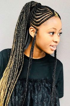 Long Fulani Braids Into Ponytail ❤ #lovehairstyles #hair #hairstyles #haircuts