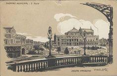 cartao postal theatro municipal - Pesquisa Google