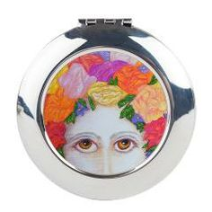 Moonflower Round Compact Mirror > MOONFLOWERS