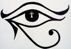 Eye of Horus plus Ankh tattoo