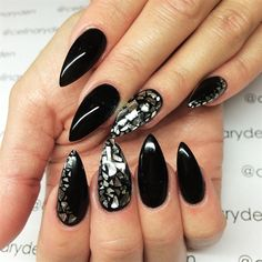 Black Mirror by Celinas_Ryden from Nail Art Gallery