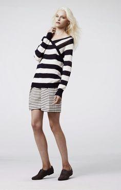 Parisienne: Wear two pieces in the same pattern. Stripes on stripes! Leopard on leopard!