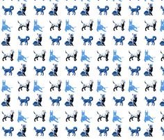 blue_dogs fabric by maga2mars on Spoonflower - custom fabric
