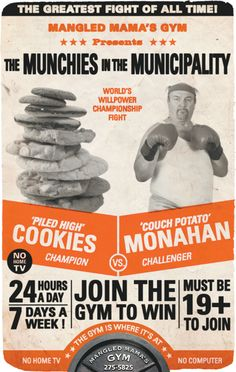 Advertising campaign: Fight night theme for Mangled Mama's Gym. Gym Advertising, Advertising Campaign, Fight Night, Home Tv, Willpower, World Championship, Portfolio Design, Marketing, Movie Posters