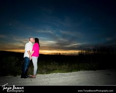 A couple sharing the beautiful sunset :)  Florida Engagement Photography always leads to some beautiful sunset pics!   Jacksonville Engagement Photos - Tonya Beaver Photography012