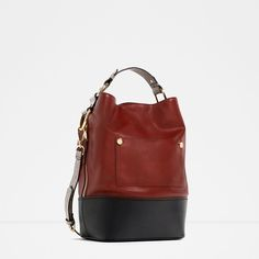 Image 2 of COLOR CONTRAST BUCKET BAG from Zara