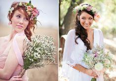 40 Inspiring Boho Bridal Hair Ideas | HappyWedd.com