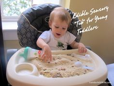Asa would STILL like this! //Edible Sensory Tub for Young Toddlers at @VanderbiltWife
