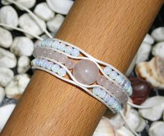Bracelet Rose Quartz and Moonstone handmade 3 strands by TriouZ, £14.79