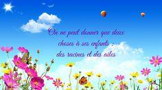 """"""" On ne peut donner que deux choses à ses enfants: des racines et des ailes """". #Aquilaes #bapteme #bijoux #collection #citation #jour #amour #unique #parents #enfants #bebe #ete #naissance #maman  #papa #cadeau #vie #fleurs #love #family #memories #quote #flowers #bleu #baby #children #birth #gift #colorful"""