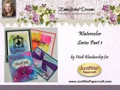 Tutorial Tuesday Watercolor Series Part I -Creating Designer Papers with Distress Inks and Distress Markers with Heidi Blankenship - JustRite Inspiration