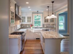 Glass white cabinets and grey