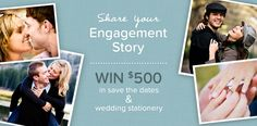 {ENDED} Want to cross off 'purchase wedding invitations' from your to-do list?! Now, you have the chance to do just that in our Engagement Contest by sharing your engagement story and a photo of you and your fiance. 1st place winner gets $500 towards wedding stationery from Pear Tree Greetings! Enter now!