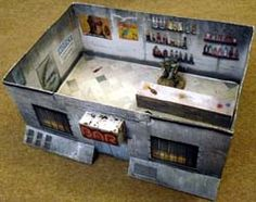 Collection of PDFs and jpegs to make papercraft buildings in 25/28mm scale