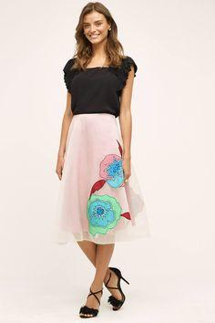 Casablanca Silk Skirt from Anthropologie