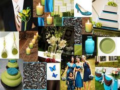 {Teal, Chartreuse & Brown}
