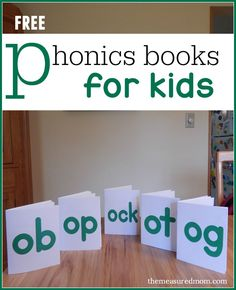 Get these FREE phonics books for reading short o words!