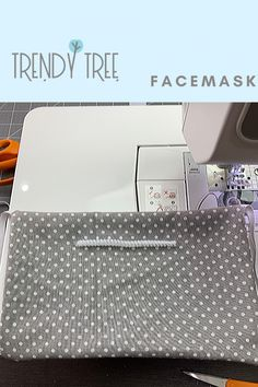 A fabric face mask obviously is not proper personal protective equipment. But, when all around you, health care providers and first line responders are Small Sewing Projects, Sewing Projects For Beginners, Sewing Hacks, Sewing Tips, Easy Face Masks, Diy Face Mask, Thing 1, Mesh Ribbon, Trendy Tree