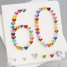 Handmade 3D '60' Card 60th Birthday Card, 60th Anniversary Card, Happy Birthday £3.95