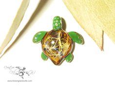 Mini Lightening Turtle - Glass Turtle Pendant by Creative Flow Glass at www.blownglassturtle.com