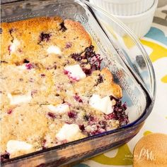 Blueberry Cream Cheese Dump Cake is a delicious and fuss-free dessert recipe to prepare making it perfect for potlucks and entertaining.