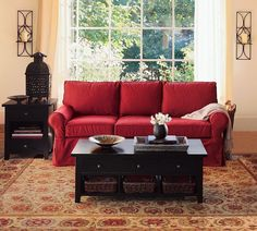 red couch with gold walls decorating ideas | ... In Stylish Moroccan Living Room Decor Ideas With Red Wingback Sofa