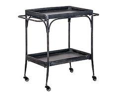 Mesa camarera en metal - negro envejecido