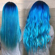 """672 Likes, 21 Comments - Encino  Blondes  Rainbow Hair (caroline k..anythingbutbasic) on Instagram: """" Balayaged Fashion Colors ✔️ #carolineghair #btconeshot_color16 #btconeshot_rainbow16…"""""""