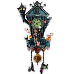 Cuckoo Clock: Tim Burton's The Nightmare Before Christmas Wall Clock by The Bradford Exchange Bradford Exchange http://www.amazon.com/dp/B00JGAW1J8/ref=cm_sw_r_pi_dp_mbqFub0VT9E2E