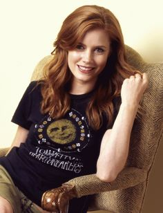 Amy Adams - If I'm ever brave enough to go red... This is the perfect color for my skin tone!