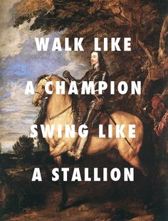 flyartproductions:  two big medallion Charles I on horseback (1635), Anthony van Dyck / Twerk It, Busta Rhymes ft. Nicki Minaj