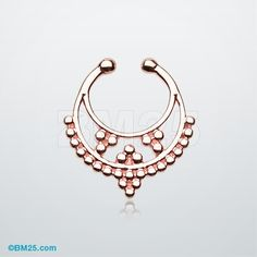 Rose Gold Royal Filigree Fake Septum Clip-On Ring
