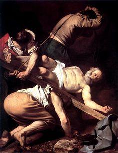 Die Kreuzigung des heiligen Petrus, öl von Caravaggio (Michelangelo Merisi) (1571-1610, Italy)
