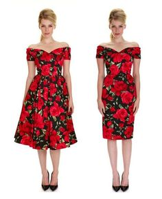 Fitted or flared? Our bestselling Fatale Black & Red Sorrento Prom and Pencil Dresses are now back in stock! #fashion #style #print #pattern #floral #roses #LBD #littleblackdress #elegant #chic #classic #sophisticated #retro #vintage #promdress #theprettydress #theprettydresscompany